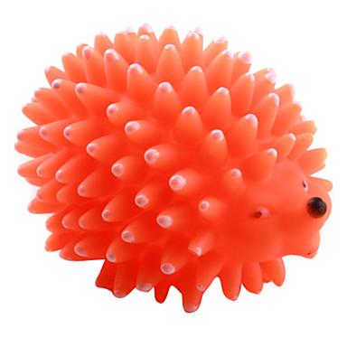 Dog Pet Toys Chew Toy / Squeaking Toy Squeak / Squeaking / Hedgehog Pink / Yellow / Orange Rubber