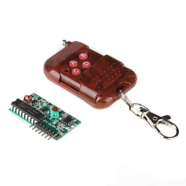 Non-lock 4-Way Wireless Remote Control Module with Receiving Panel