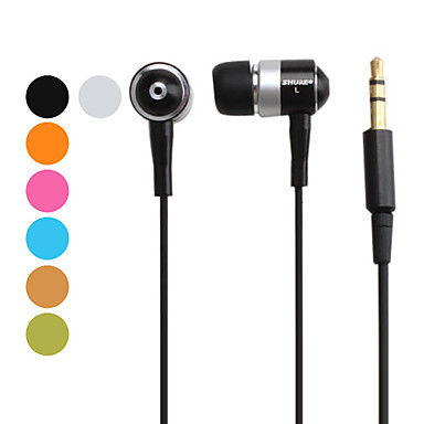 Metallic In-Ear Stereo Music Earphone (Assorted Colors)