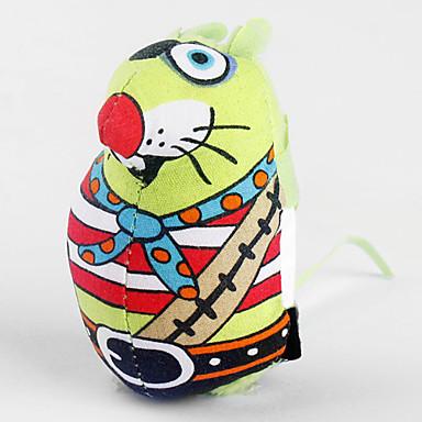 고양이를위한 다채로운 햇볕이 잘 드는 마우스 스타일의 개박하 장난감 (임의 배송)