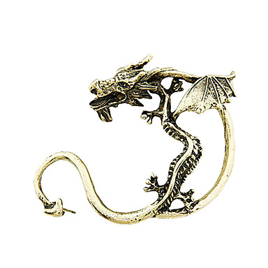 Bronze & Alloy Retro Dragon Earrings