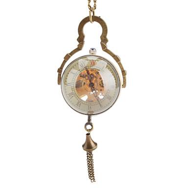 Men's Pocket Watch Mechanical Watch Automatic self-winding Hollow Engraving Band Bronze