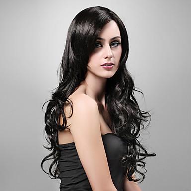 siyah Peruk Kadınlar için Peruk Dalgalı kostüm Peruk Cosplay Peruk