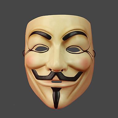 V for Vendetta Maske Unisex Cadılar Bayramı Karnaval Yeni Yıl Festival / Tatil Cadılar Bayramı Kostümleri Desen