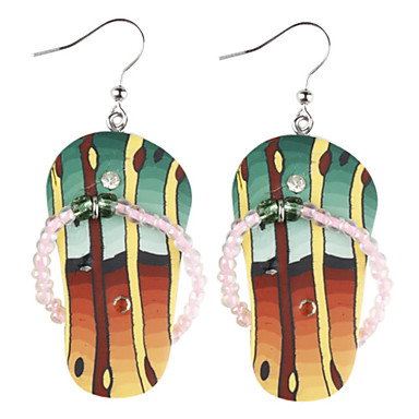 Z&X®  Soft Ceramic Colorful Slippers Earrings