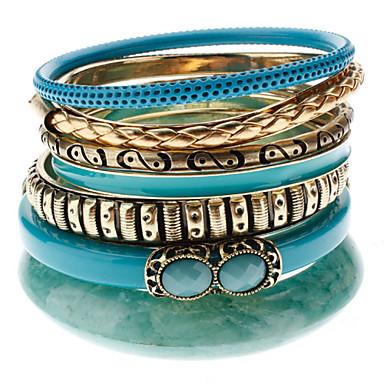 Muti-anel, pulseira colorida liga Grão (Sete Pulseiras um conjunto)