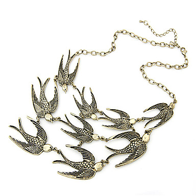 Women's Bird Animal Design Fashion Adjustable European Vintage Necklaces Statement Necklace Alloy Vintage Necklaces Statement Necklace ,