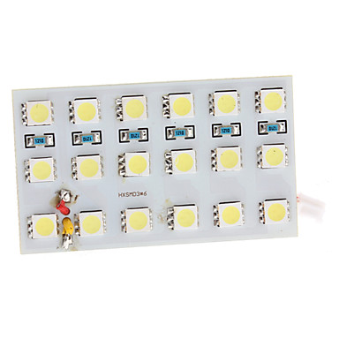 BA9S/Festoon/T10 5W 18x5050 SMD 320-360LM White Light LED Bulb for Car Door/Reading Lamp (12V)