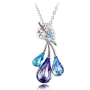 Three Drops Crystal And Zircon Necklace