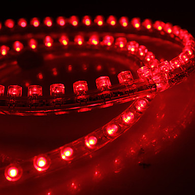 Waterproof 72cm 72-led rood LED strip licht voor in de auto (12V)