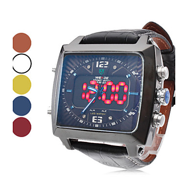 weide® Männer pu Analog - Digital Multi-Bewegung Armbanduhr (schwarz)
