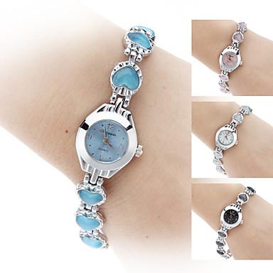 Per donna Orologio alla moda Orologio braccialetto Quarzo Lega Banda Nero Bianco Blu Rosa