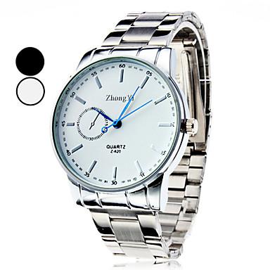 Men's Dress Watch Quartz Casual Watch Alloy Band Charm Silver