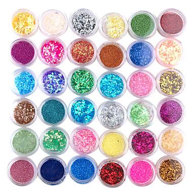 36pcs 3D Colorful Nail Decoration Set