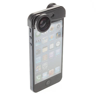 3-i-1 hurtigskiftesystem kameralinse til iphone 5/5s (fiskeøje, vidvinkel og makro linse)