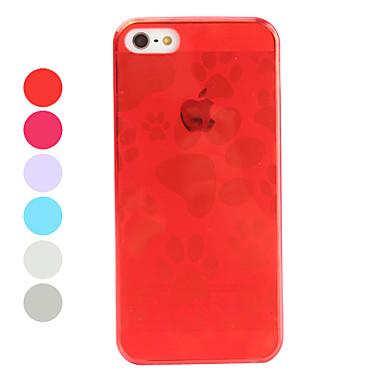 아이폰 5/5S (분류 된 색깔)를위한 개 발 패턴 연약한 TPU 케이스