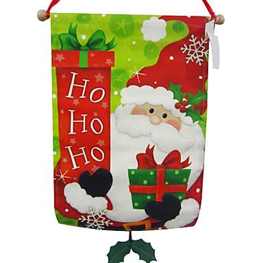 Ornamentos de la Navidad del muñeco de nieve y Santa Claus Flags Hang