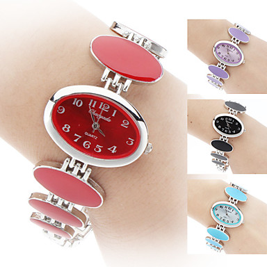 여성용 패션 시계 팔찌 시계 석영 밴드 우아한 블랙 화이트 레드 핑크 퍼플