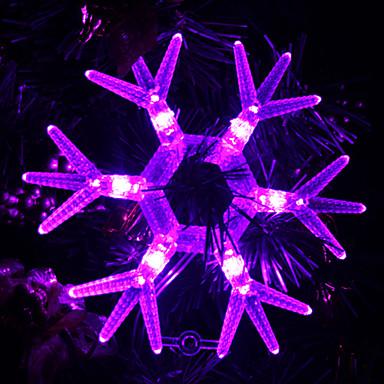 Snowflake Shaped Purple Light LED String Fairy Lamp for Christmas (3xAA)