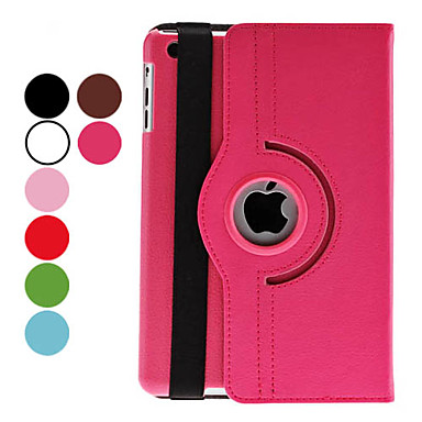 Case For iPad Mini 3/2/1 with Stand Auto Sleep / Wake 360° Rotation Full Body Cases Solid Color PU Leather for iPad Mini 3/2/1