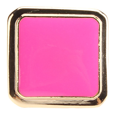 Big Square Colored Glaze Adjustable Alloy Ring