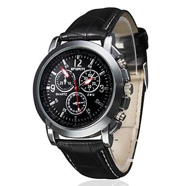 Homens Quartzo Relógio de Pulso Relógio Casual PU Banda Amuleto Preta Marrom