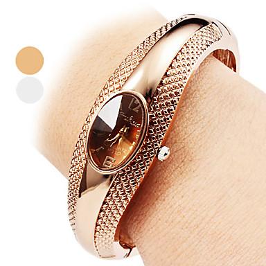 Women's Quartz Bracelet Watch Casual Watch Alloy Band Casual Elegant Fashion Bangle Silver Bronze
