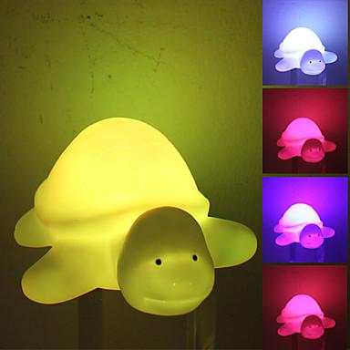 Schöne Turtle Stil bunte Licht LED-Nachtlicht Lampe (3xLR44)