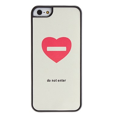 Do Not Enter Pattern Hard Case for iPhone 5/5S