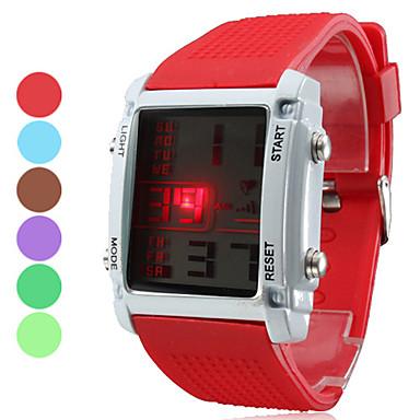 unisex wielofunkcyjny silikonowy styl doprowadził cyfrowy zegarek na rękę (różne kolory)
