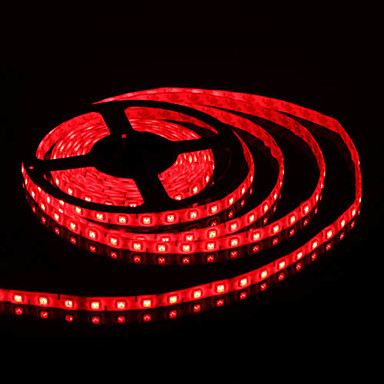 Vandtæt 5M 300x5050 SMD Red Light LED Strip Lamp (12V)