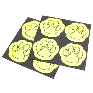 Plastic Feet Pattern Reflective High Visibility Stickers