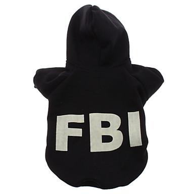 Chien Pulls à capuche Vêtements pour Chien Lettre et chiffre Noir Costume Pour les animaux domestiques