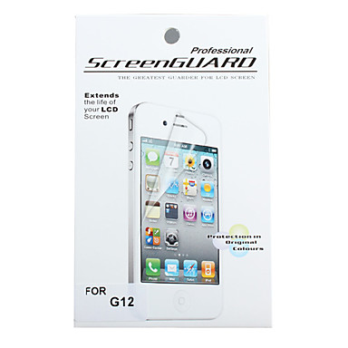 Protective Clear Screen Protector with Cleaning Cloth for HTC G12