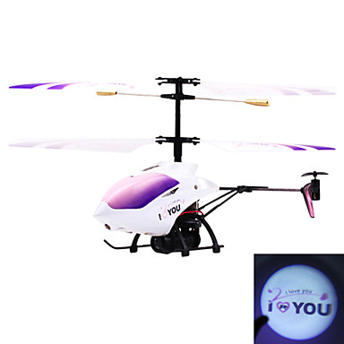 3.5-Channel Gyro RC Helicopter with I Love You Light Projection Valentine's Day Gift (58021)
