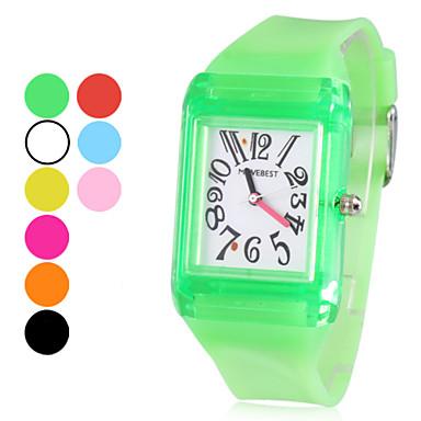Unisex Rubber Analoog Quartz Wrist Watch (verschillende kleuren)