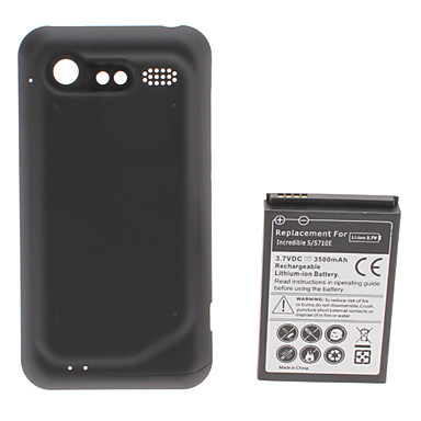 HTC Incredible S S710E 3.7 V 3500 mAh Extended Battery with Backup Cover