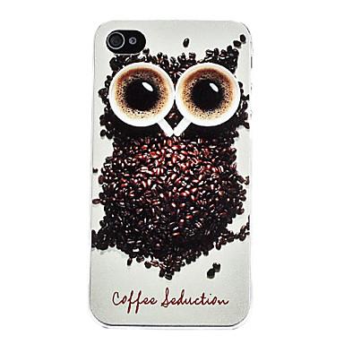 Diseño Owl duro caso para iPhone 4 y 4S