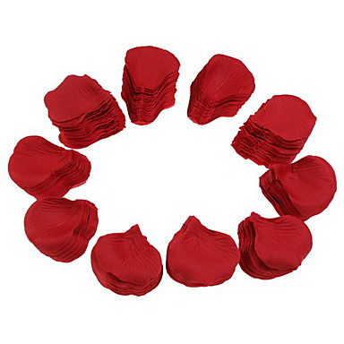 Wedding Party Red Silk Rose Petals (1000-Pack)