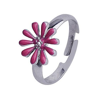 sistema del anillo ajustable de la aleación de la flor lureme®enamel (colores surtidos)