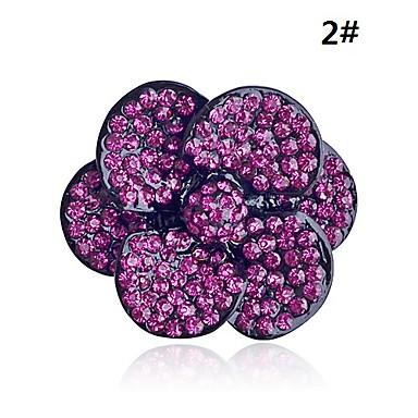 lureme®flower anillo de circón de aleación en forma
