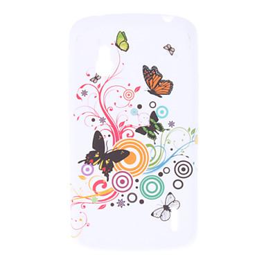 Teste padrão de borboleta TPU macio para LG E960 Nexus 4
