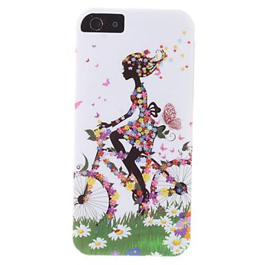 ciclismo menina padrão caso duro durável para o iphone 5/5s
