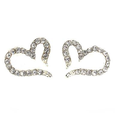 Women's Stud Earrings Heart Zircon Alloy Heart Jewelry Daily