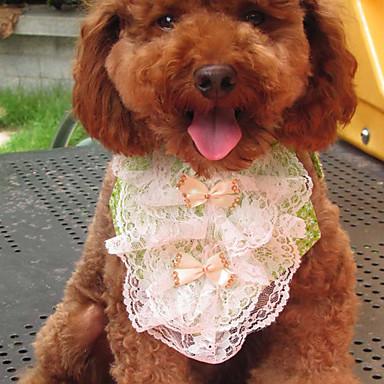 Flowery Pattern Lacy Flower Style Neckerchief Bandana Saliva Towel for Dogs Cats (S-L)