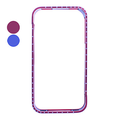 Aluminum Zircon Bumper Case for iPhone 4(Assorted Colors)