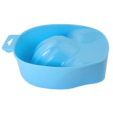 Blue Powder Nail Art Hand Remove Wash Soak Bowl Tool