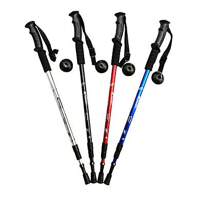 3 Yürüyüş Batonu Trekking Batonları Yürüyüş kutup 135cm (53 inç) Ayarlanabilir Uzunluk Anti-Şok Aluminyum Alaşım Yürüyüş Çok Fonksiyonlu