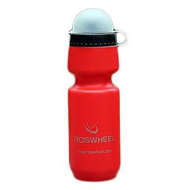 ROSWHEEL Material PE 680ml Ciclismo da garrafa de água do esporte com tampa contra poeira (2 cores) 51.399