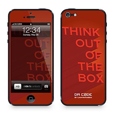 Code da ™ peau pour l'iphone 5/5s: «penser hors de la boîte